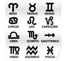 All the Zodiac Signs Poster