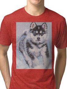 Alaskan Malamute Fine Art Painting Tri-blend T-Shirt