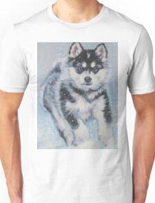 Alaskan Malamute Fine Art Painting Unisex T-Shirt