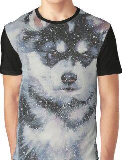 Alaskan Malamute Fine Art Painting Graphic T-Shirt