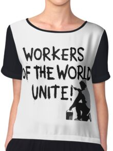 Workers of the World Unite! Chiffon Top