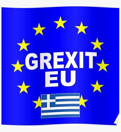 Grexit Greece leave EU Poster