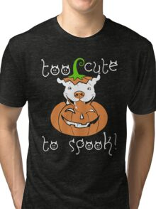 Love Pitbull - Too cute to spook Tshirt Tri-blend T-Shirt