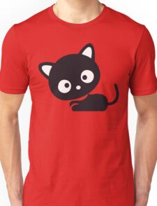 Cute Kitty Cat Cartoon Silhouette (Whatcha Lookin At?) Unisex T-Shirt