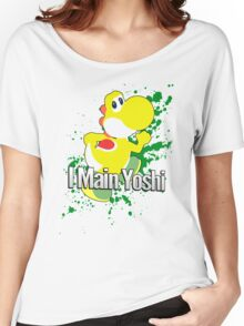I Main Yoshi (Yellow Alt.) - Super Smash Bros. Women's Relaxed Fit T-Shirt