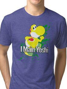 I Main Yoshi (Yellow Alt.) - Super Smash Bros. Tri-blend T-Shirt