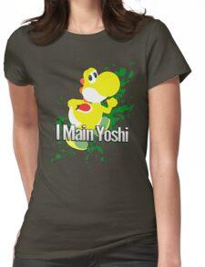 I Main Yoshi (Yellow Alt.) - Super Smash Bros. Womens Fitted T-Shirt