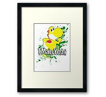 I Main Yoshi (Yellow Alt.) - Super Smash Bros. Framed Print