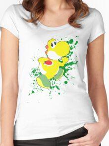 Yoshi (Yellow Alt.) - Super Smash Bros. Women's Fitted Scoop T-Shirt