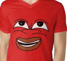 Frank face Mens V-Neck T-Shirt