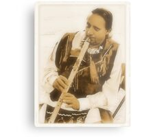 """""""Native American Indian on Flute""""... prints and products Metal Print"""
