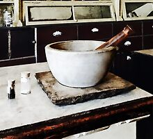 Mortar and Pestle in Apothecary by Susan Savad