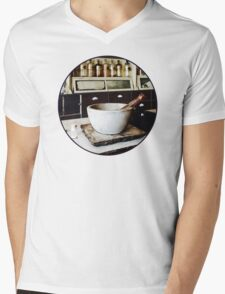 Mortar and Pestle in Apothecary Mens V-Neck T-Shirt