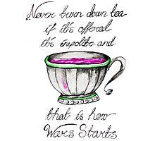 Tea wars Photographic Print