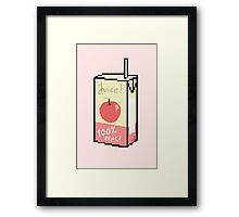 Apple Juice Box Framed Print