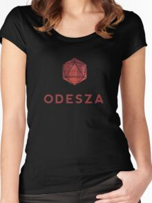 Odesza logo print Women's Fitted Scoop T-Shirt