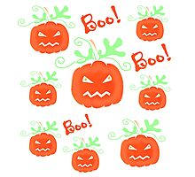 Halloween pumpkin pattern 2 Photographic Print
