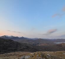 Mamores and the Blackwater Reservoir by Pete Johnston