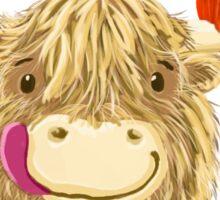 Wee Hamish Highland Cow Loves Halloween Sticker