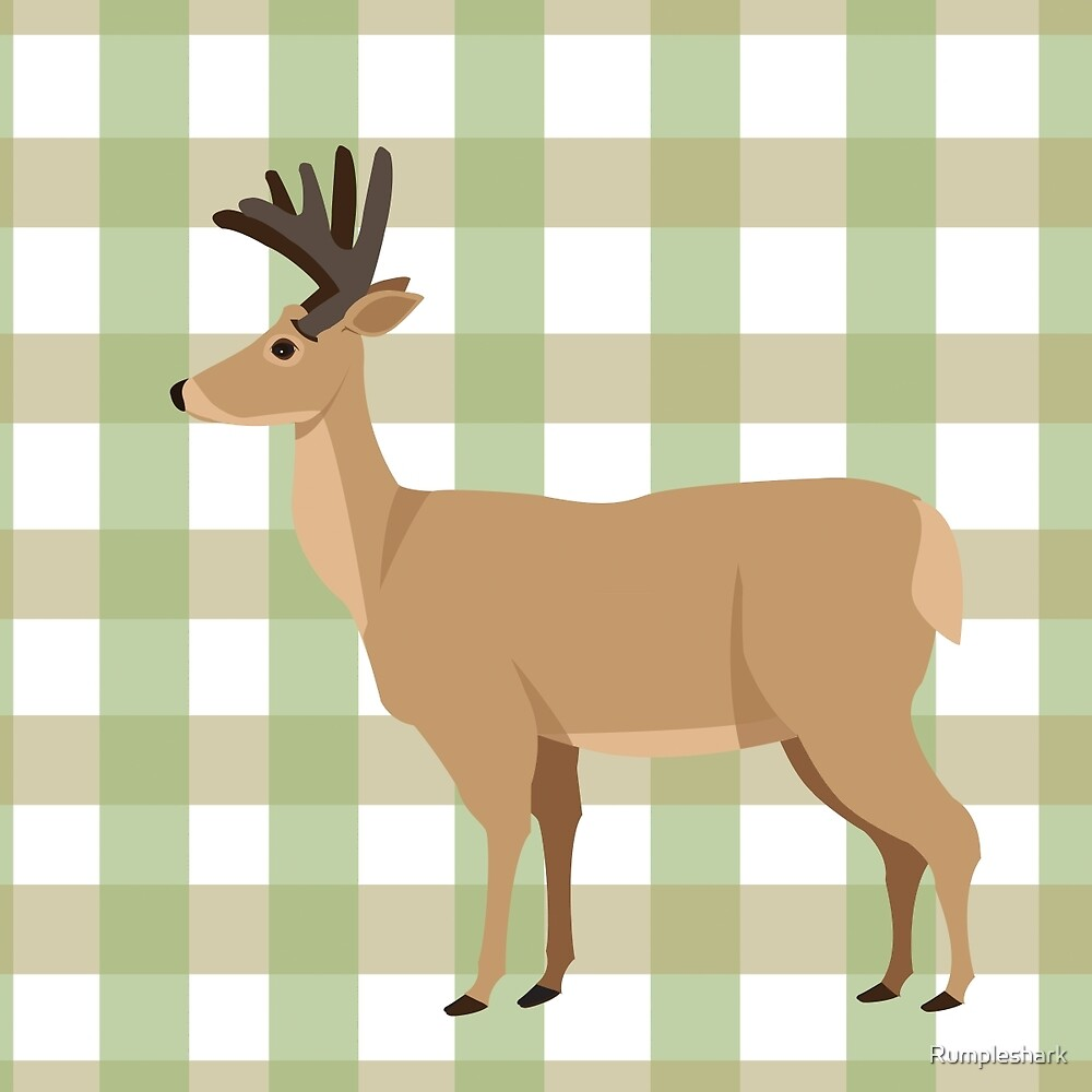 Gingham Deer by Rumpleshark