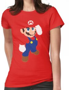 Mario in red Womens Fitted T-Shirt
