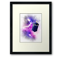 Tardis shirt Framed Print