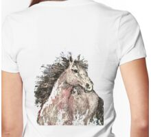 Horse / Cheval #2 Womens Fitted T-Shirt