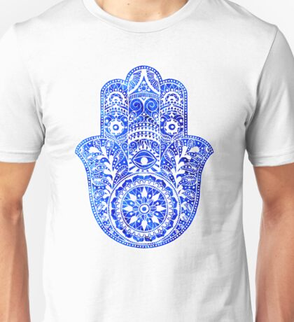 Blues Hamsa Hand Unisex T-Shirt