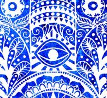 Blues Hamsa Hand Sticker