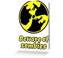 zombie zombies halloween apocalypse monster scary dark night Greeting Card