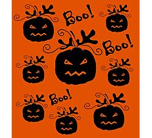 Halloween pumpkin pattern 3 Photographic Print