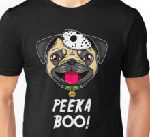 Halloween Pug (PeekaBoo!, Black) Unisex T-Shirt