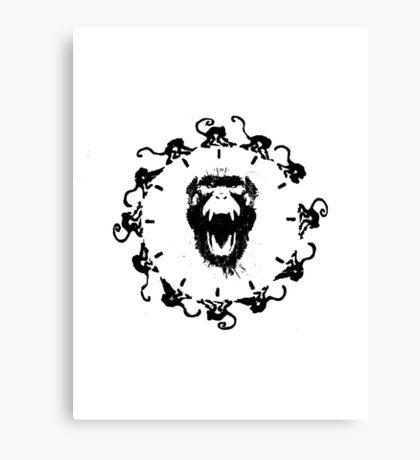 12 monkeys logo print Canvas Print