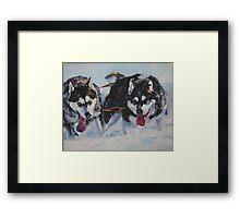 Alaskan Malamute Fine Art Painting Framed Print