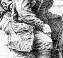 WW1 British Soldier 'Weary Tommy' Sticker