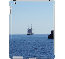 Tall ship leaving Duluth harbor iPad Case/Skin