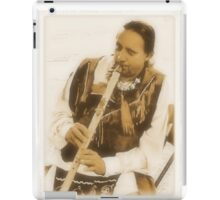 Native American Indian on Flute iPad Case/Skin