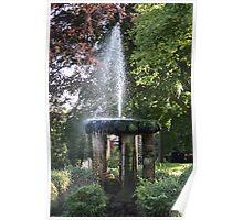 Arboretum Fountain Poster