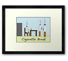 Cigarette Break Framed Print