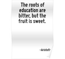 The roots of education are bitter, but the fruit is sweet. Poster