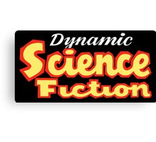 Dynamic Science Fiction vintage Canvas Print