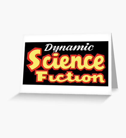 Dynamic Science Fiction vintage Greeting Card