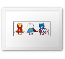 Three of the best Framed Print