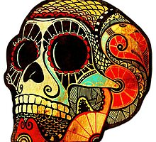 Grunge Skull (Sticker-mirrored) by Kerstin Schoene