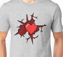 8 bit heart... Or a gamer's heart Unisex T-Shirt
