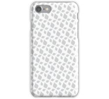 Grey leaves abstract iPhone Case/Skin