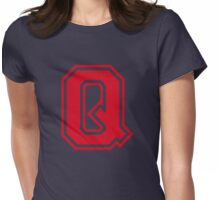 College letter Q in red Womens Fitted T-Shirt