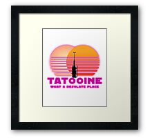 Tatooine 80's Retro Sign Framed Print