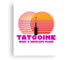 Tatooine 80's Retro Sign Canvas Print