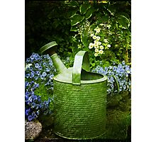 Johns Watering Can  Photographic Print